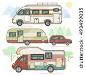 a set of transport vehicles for ... | Shutterstock .eps vector #493499035