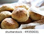 Fresh Homemade Bread Rolls In...