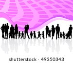 family and abstract vector | Shutterstock .eps vector #49350343