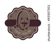 raccoon logo design   Shutterstock .eps vector #493507501