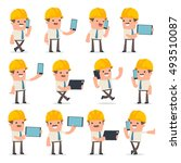 set of smart and funny... | Shutterstock .eps vector #493510087
