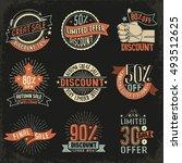 vintage retro signs emblem for... | Shutterstock .eps vector #493512625
