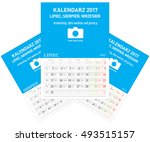 polish calendar a3 format with... | Shutterstock .eps vector #493515157