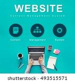 website development data... | Shutterstock . vector #493515571