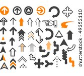 arrows  in different styles and ... | Shutterstock .eps vector #49352110
