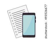 smartphone mobile device   Shutterstock .eps vector #493526677