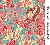 Colorful Retro Floral Seamless...
