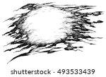 shreds of torn pirate flag  ...   Shutterstock .eps vector #493533439