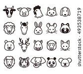 animal icons | Shutterstock .eps vector #493538719