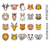 animal icons | Shutterstock .eps vector #493538731