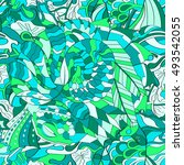 tracery seamless calming...   Shutterstock .eps vector #493542055