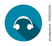 headphone icon vector | Shutterstock .eps vector #493542241