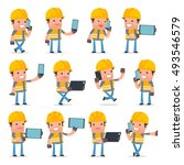 set of smart and funny...   Shutterstock .eps vector #493546579