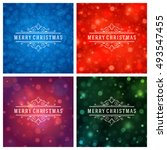 christmas typography greeting... | Shutterstock .eps vector #493547455