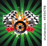 racing sign on the ray... | Shutterstock .eps vector #49354798
