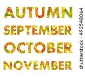 autumn months vector... | Shutterstock .eps vector #493548064