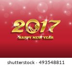 happy new year 2017 vector... | Shutterstock .eps vector #493548811