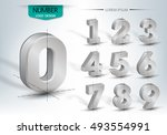 realistic three dimensional ... | Shutterstock .eps vector #493554991