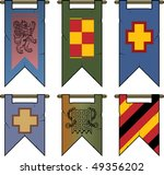 Heraldic Banners & Flags - stock vector