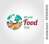 world food day vector... | Shutterstock .eps vector #493565041