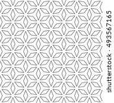 vector monochrome seamless... | Shutterstock .eps vector #493567165