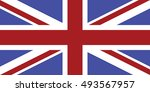 flag of the united kingdom.... | Shutterstock .eps vector #493567957