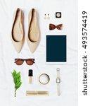 fashion blogger concept.... | Shutterstock . vector #493574419