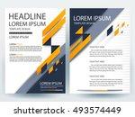 abstract vector modern flyers... | Shutterstock .eps vector #493574449