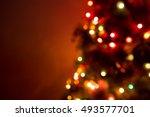 christmas tree lights and... | Shutterstock . vector #493577701