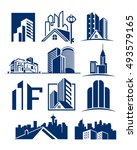 real estate compilations | Shutterstock .eps vector #493579165