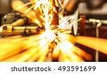 industrial spot nut welding... | Shutterstock . vector #493591699