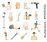 orthopedics and prosthetics... | Shutterstock .eps vector #493592431