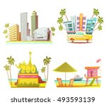 miami 2x2 design concept with... | Shutterstock .eps vector #493593139