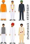 set of different standing... | Shutterstock .eps vector #493595809