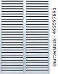 aluminum door  | Shutterstock . vector #493597891