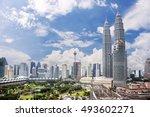 kuala lumpur skyline  malaysia... | Shutterstock . vector #493602271