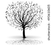 musical tree | Shutterstock . vector #493610605