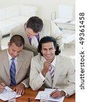 confident business partners... | Shutterstock . vector #49361458