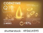 coenzyme q10. supreme collagen... | Shutterstock .eps vector #493614595