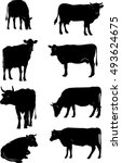 Cow  Vector  Silhouette ...