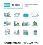 color line icons collection.... | Shutterstock .eps vector #493625791