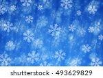 merry christmas snow blizzard ... | Shutterstock . vector #493629829