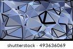 randomly scattered triangles of ...   Shutterstock .eps vector #493636069