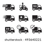 delivery car icons  black on a... | Shutterstock .eps vector #493640221