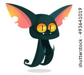 cartoon bat head icon.... | Shutterstock .eps vector #493641019