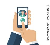 call doctor. medical advice... | Shutterstock .eps vector #493641571