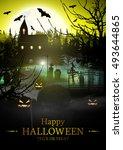 halloween. | Shutterstock .eps vector #493644865