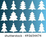 christmas tree vector icon set... | Shutterstock .eps vector #493654474