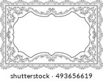 baroque nice ornate page on... | Shutterstock .eps vector #493656619