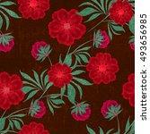 seamless floral pattern... | Shutterstock . vector #493656985